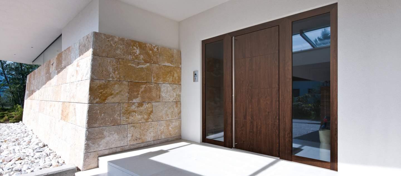 Drevo-hliníkové-vchodové dvere